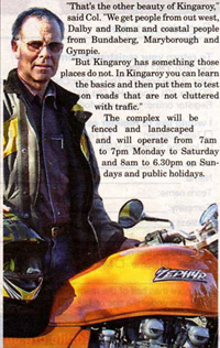 Col Rogerson's motorcycle dream