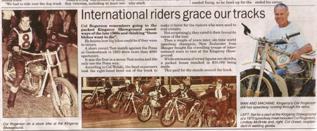International riders grace our tracks